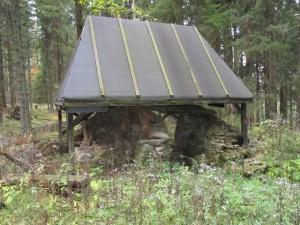 Zbytky lesní pece – Zhůří