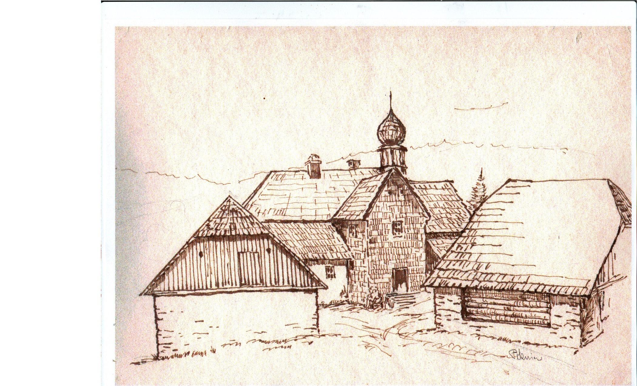 Kresba Paterhütte Pěknice